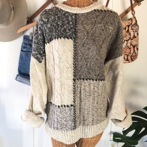 Chunky Vintage Cable Knit Sweater